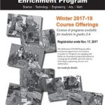 Winter 2017 STEAM enrichment programs for grades 2-6