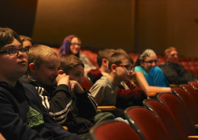 Local artist talks to seventh-graders about design process