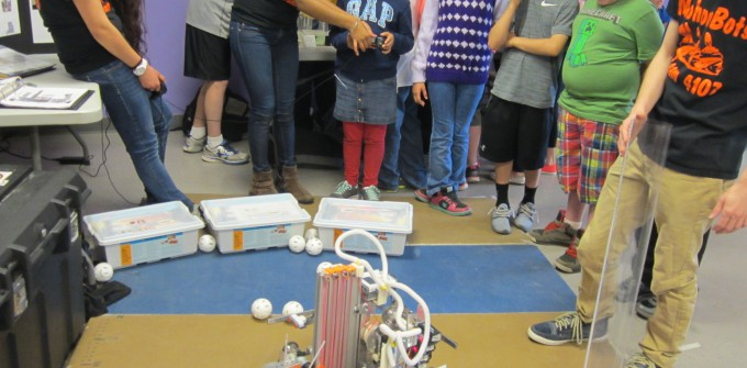 Members of Mohonasen High School's Science Honor Society visited Pinewood in April to present science and engineering demos fourth grade classes.