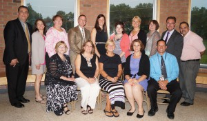 Retirees, newly tenured staff and outgoing Board of Education members were recognized during a June 8 reception.