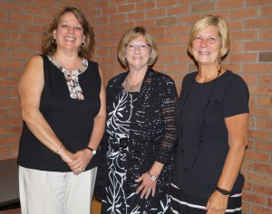 Congratulations to retirees, from left: Gizelle Gallagher, Elaine Asselin and Linda Doulides.