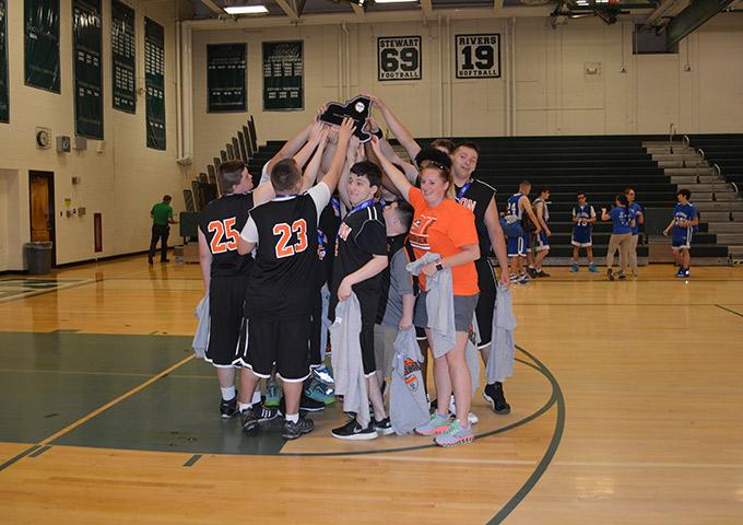 Team members celebrate