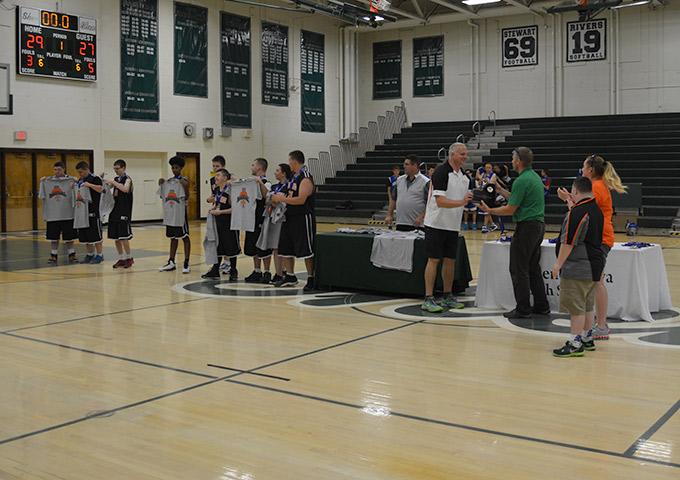 Team receiving awards