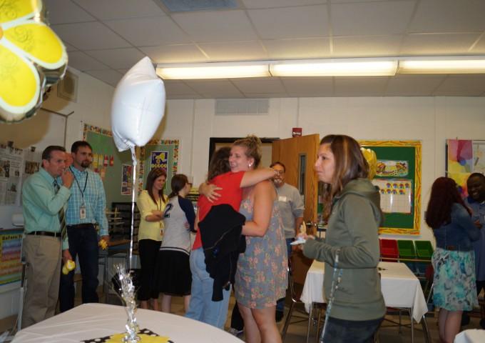 people in classroom talking