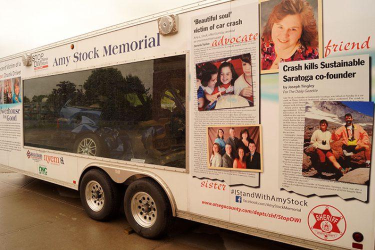 Amy Stock Memorial trailer
