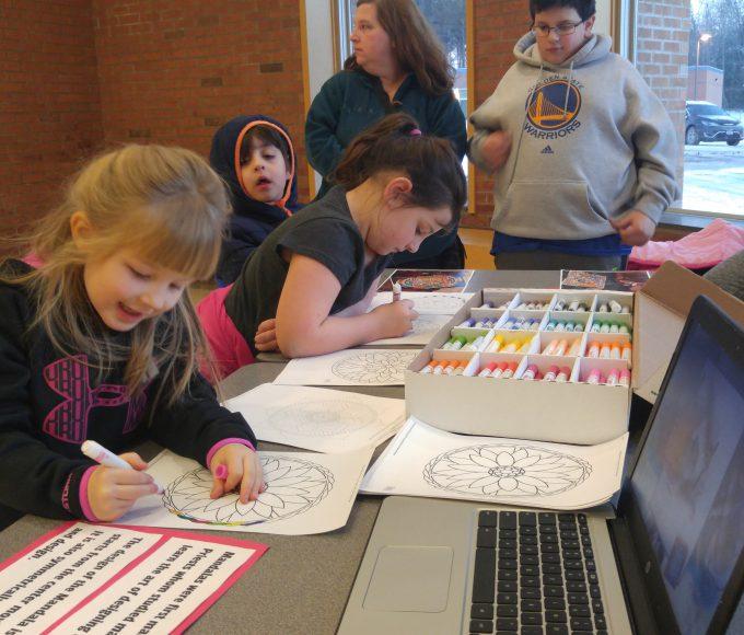 Girls coloring