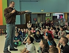 author talks to children