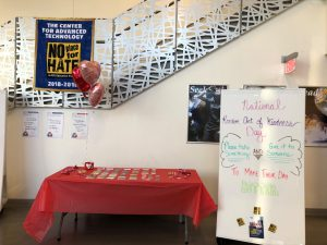 Set up for National Kindness Day