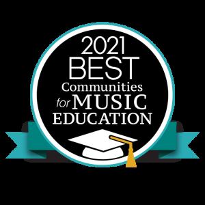 logo for NAMM 2021 Best Communities for Music Education